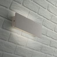 Applique Parker LED integrato in ceramica, bianco, 8W 400LM IP54