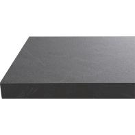 Piano cucina in laminato nero L 304 x P 63 cm, spessore 3.8 cm