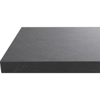 Piano di lavoro in legno nero L 304 x P 63 cm, spessore 3.8 cm