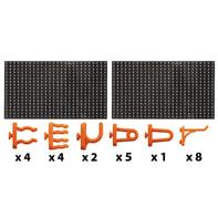 Pannello porta-attrezzi in plastica 49.5 x 32.5 mm