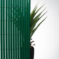 Canniccio doppia vista pvc verde L 3 x H 1.5 m