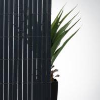 Canniccio doppia vista pvc NATERIAL grigio scuro L 5 x H 1.5 m