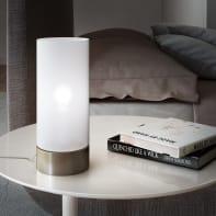Lampada da tavolo Moderno Tee touch bianco , in vetro, INSPIRE