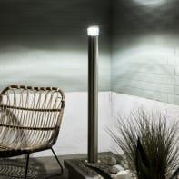 Palo della luce Valencia H100cm LED integrato in acciaio inossidabile grigio 7W 700LM IP44 INSPIRE