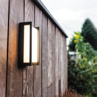 Applique Qubo LED integrato in alluminio, nero, 15W 1100LM IP54 CALI