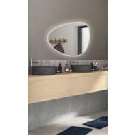 Specchio con illuminazione integrata bagno ovale Gota L 80 x H 55 cm SENSEA