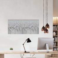 Quadro dipinto a mano Fiori 60x120 cm