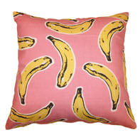 Cuscino Banane rosa 40x40 cm