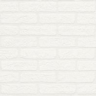 Carta da parati Mattone soft bianco, 53 cm x 10 m