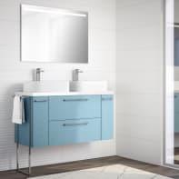 Mobile bagno Remix azzurro L 121 cm