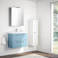 Mobile bagno Remix azzurro L 75 cm