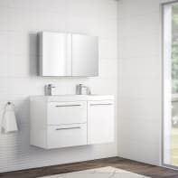 Mobile bagno Remix bianco lucido L 106 cm