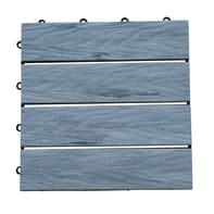 Piastrelle ad incastro Wpc in composito 30 x 30 cm Sp 24 mm,  grigio