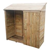 Legnaia in legno 09-68. L 187 x H 187 x P 78 cm verde
