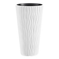 Vaso Sandy PROSPERPLAST in plastica colore bianco H 53.1 cm, Ø 29.7 cm