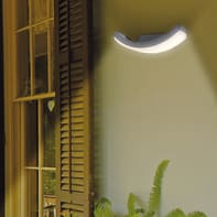 Applique Curve LED integrato in alluminio, nero, 7W 400LM IP54
