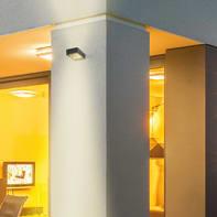 Applique Ash LED integrato in alluminio, nero, 6W 300LM IP54