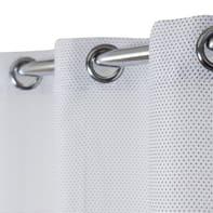 Tenda Crocky bianco e nero occhielli 140 x 260 cm