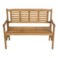 Panca da giardino senza cuscino pieghevole in legno Porto NATERIAL colore naturale