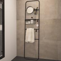 Scala porta asciugamani Credence in acciaio nero