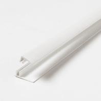 Profilo u quadrato ARTENS Start & Finition Clip in pvc 2.6 m x 1.8 cm Ø 1.5 mm white