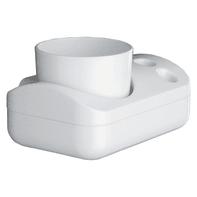 Bicchiere porta spazzolini 2900 in resina termoindurente bianco