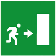Simbolo Uscita di sicurezza , 17 x 17 cm