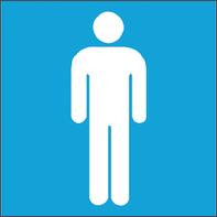 Sticker Uomo plastica 17 x 17 cm