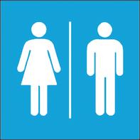 Sticker Donna/uomo plastica 17 x 17 cm