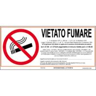 Cartello segnaletico Vietato fumare vinile 31 x 14 cm