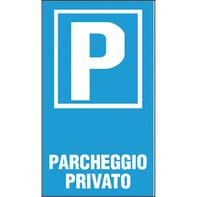 Cartello segnaletico Parcheggio privato pvc 25 x 45 cm