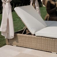 Letto da esterno in alluminio Costarica beige L 170 x H 220 cm