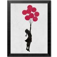 Poster Quadro 30x30 Brandalised Girl Floating 35x35 cm