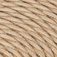 Cavo tessile x 2x0.75 mm² beige juta 3 metri
