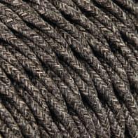 Cavo tessile MERLOTTI x 2x0.75 mm² marrone 3 metri