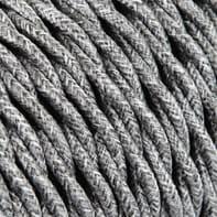 Cavo tessile x 2x0.75 mm² grigio 3 metri