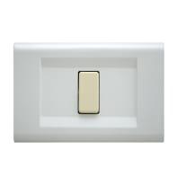 Placca Laser FEB 1 modulo bianco