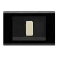 Placca Laser FEB 1 modulo nero