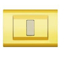 Placca FEB Laser 1 modulo oro compatibile con magic