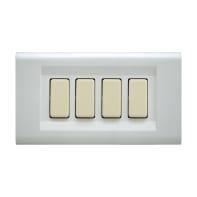Placca Laser FEB 4 moduli bianco