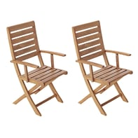 Set 2 sedie pieghevole in legno NATERIAL colore marrone