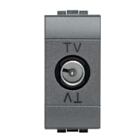 Presa tv terminale BTICINO Living light nero
