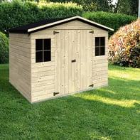 Casetta da giardino in legno Bouganvillea,  superficie interna 4.32 m² e spessore parete 12 mm