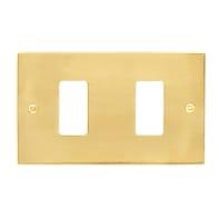 Placca CAL Magic 2 moduli ottone ottone compatibile con magic