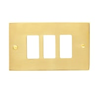 Placca CAL Magic 3 moduli ottone ottone compatibile con magic
