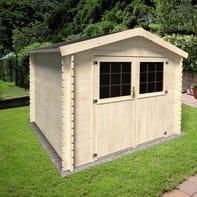 Casetta da giardino in legno Primula,  superficie interna 5.9 m² e spessore parete 28 mm