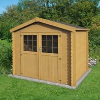 Casetta da giardino in legno Impregnata Narciso,  superficie interna 3.73 m² e spessore parete 19 mm