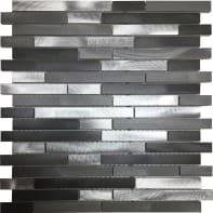 Mosaico Urban Barrette H 30 x L 30 cm grigio/argento