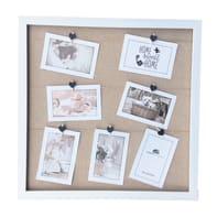 Cornice Clamp Juta per 7 fotografie 10 x 15  bianco