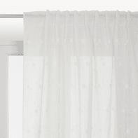 Tenda Margherita bianco fettuccia con passanti nascosti 140 x 320 cm